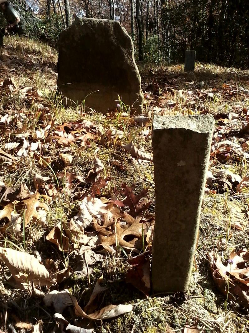 Some stones with naturally squared-off edges lend themselves as grave markers.